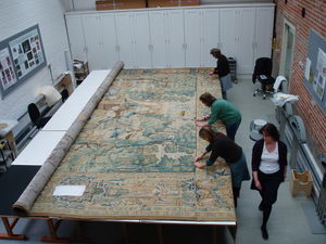 UK National Trust Textile Conservation Studio, Gideon tapestry