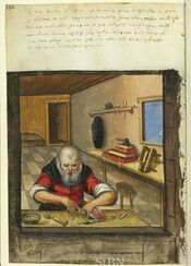 1614 image of a claspmaker