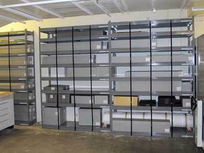 Rolled storage shelving units.JPG